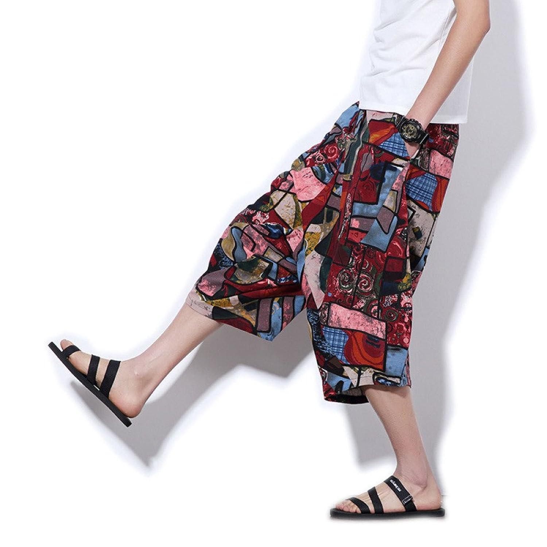 Verano Nuevos Hombres Casual Harlan Pantalones De Lino Tide Menswear Algodon De Gran Tamano Siete Pantalones Well Wreapped Tipytap Cl