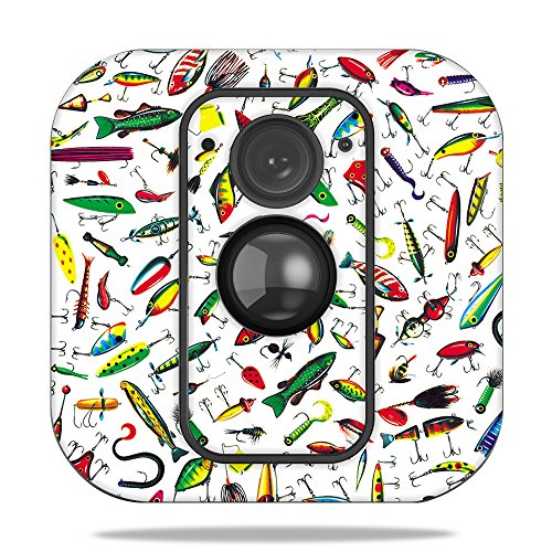 MightySkins Skin for Blink XT Outdoor Camera - Bright Lures | Protective, Durable, and Unique Vinyl Decal wrap Cover | Easy to Apply, Remove, and Change Styles | Made in The USA