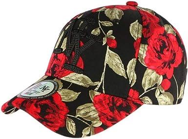 Gorra NY Negra y roja Floral Fashion béisbol Bora – Unisex Rojo ...