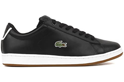 5d84a354e56a Lacoste Carnaby EVO CRT SPM Black White Leather Fashion Sneakers Shoes Sz.  9.5