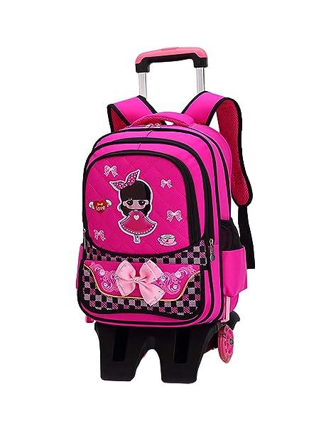 Zhuhaijq Primary School Students Rolling Backpacks - Trolley Colegio Mochila Bolso Con Ruedas para Niños Niñas Alumno Primario Colegio Estudiante Schoolbag ...