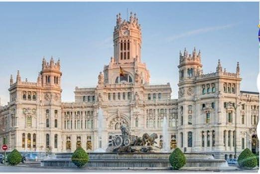 Rompecabezas De 1000 Piezas Fuente De Cibeles Ubicada En El Centro De Madrid España Puzzle Diy Art: Amazon.es: Hogar