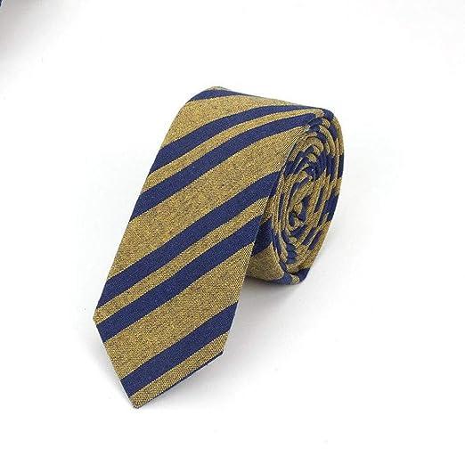 QEHWS Corbata Corbatas De Algodón para Hombres Corbata De Tela ...