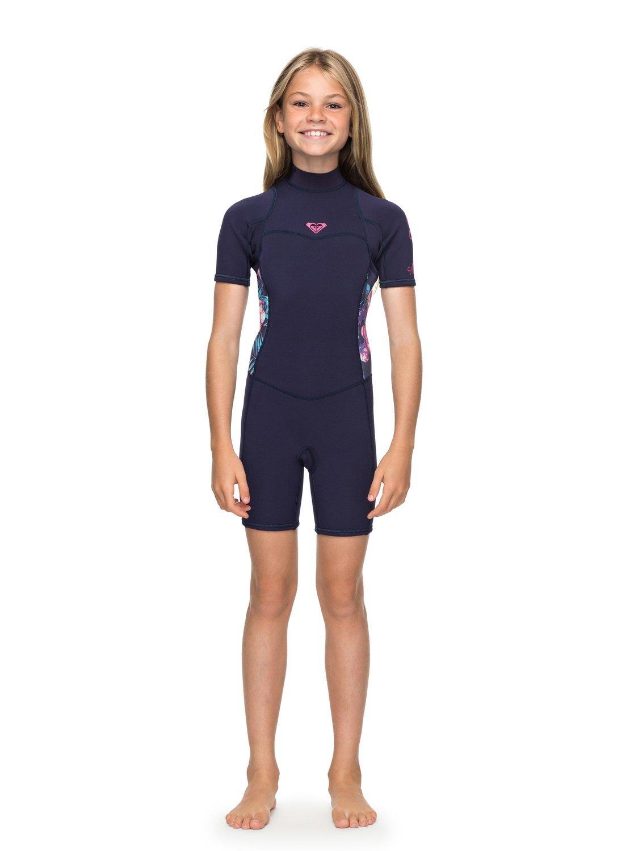 43ce55edd Amazon.com  Roxy Girls Girl s 7-14 2 2Mm Syncro Series Short Sleeve Back  Zip Flt Springsuit  Sports   Outdoors