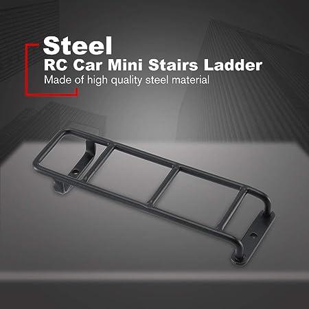 RC Car Metal Mini Escaleras Accesorios de Escalera para 1/10 Traxxas TRX4 TRX-4 Bronco SCX10 SCX10 II 90046 90047 RC Crawler/Negro: Amazon.es: Hogar