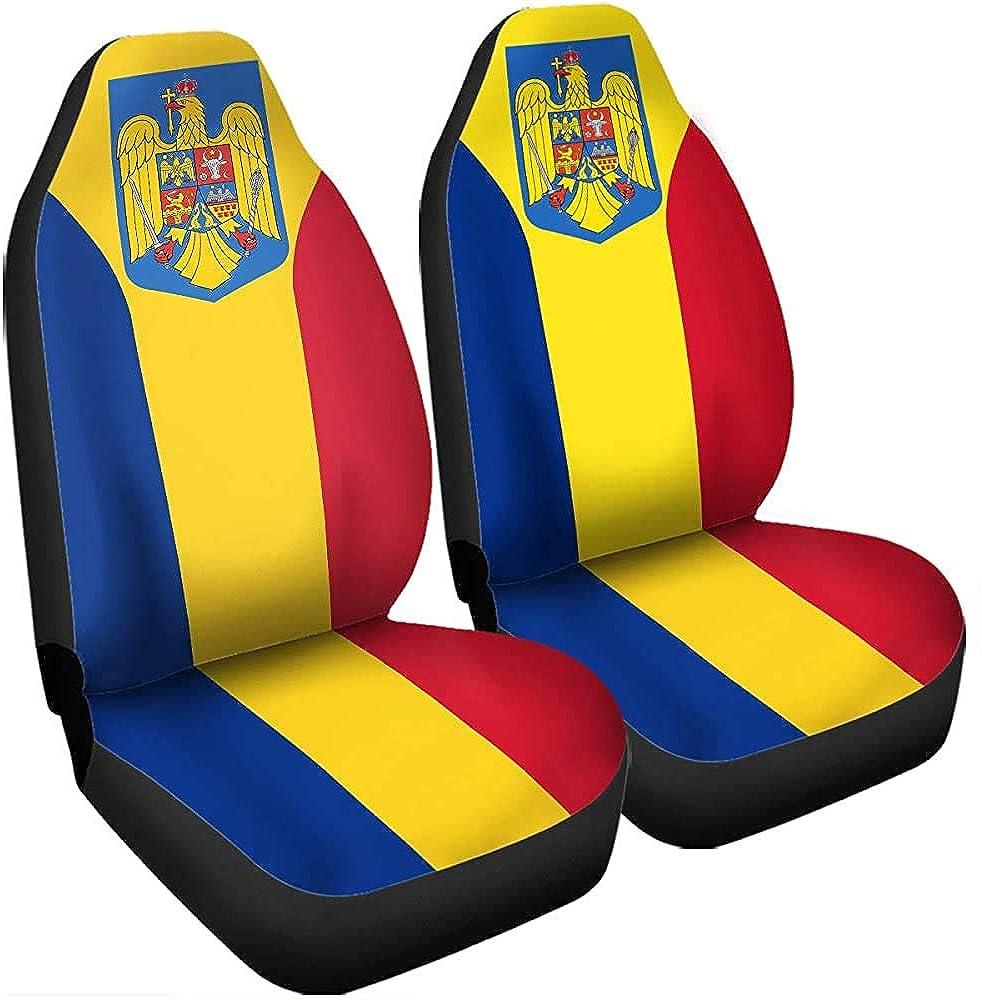 Not applicable Armoiries roumaines Housses de si/ège de drapeau de la Roumanie Accessoires de voiture Taille Universal Fit pour la plupart des voitures Camion SUV