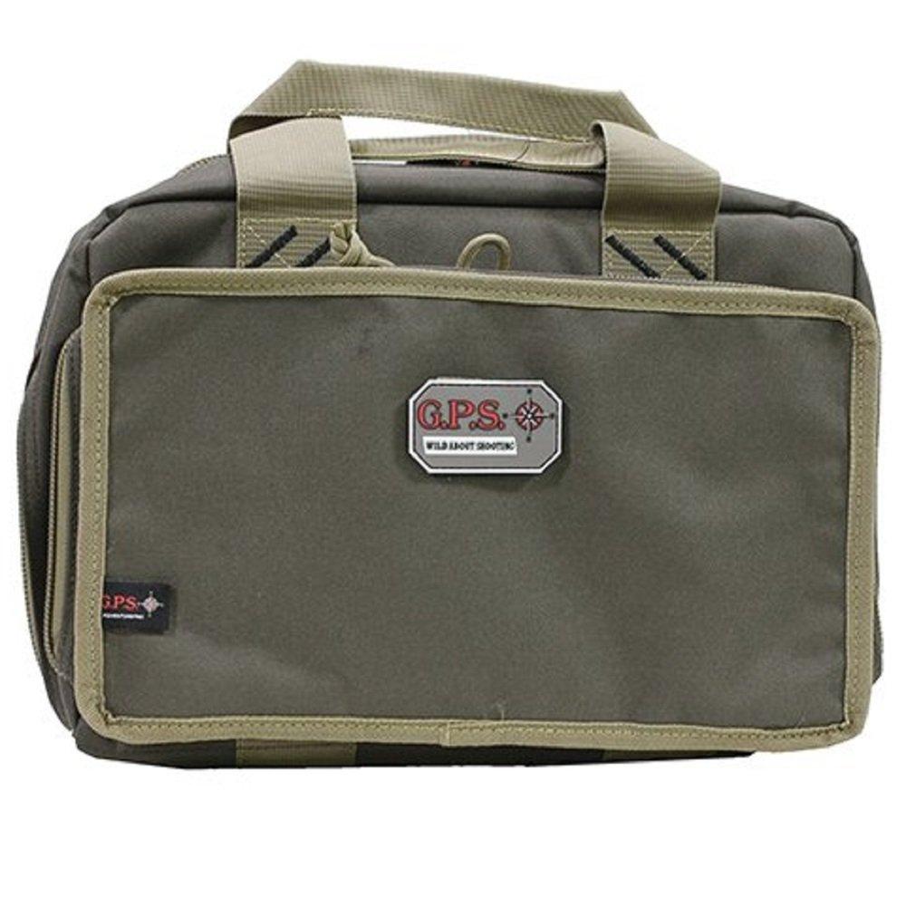 G5 Outdoors G.P.S. Quad Pistol Range Bag, Rifle Green/Khaki, One Size