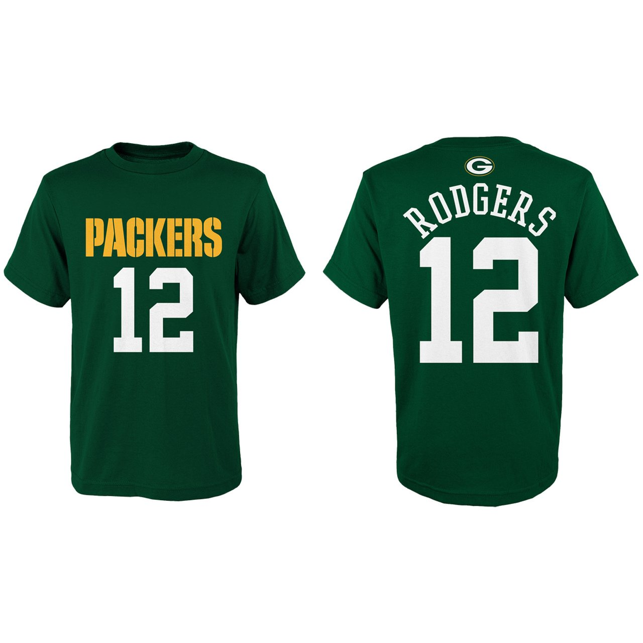 best service b5767 bcd87 Aaron Rodgers Green Bay Packers Youth Mainliner Jersey Name and Number  T-Shirt