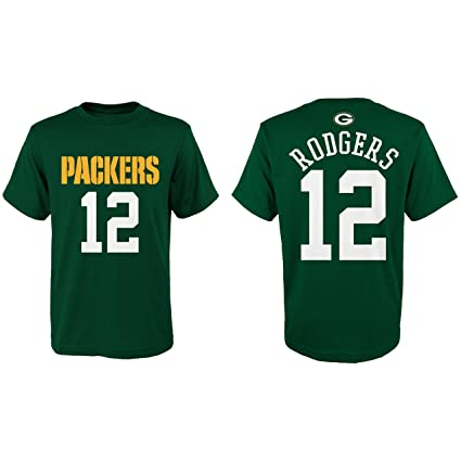 Aaron Rodgers Green Bay Packers Youth Mainliner Jersey Name and Number T- Shirt Small 8 4315748c8