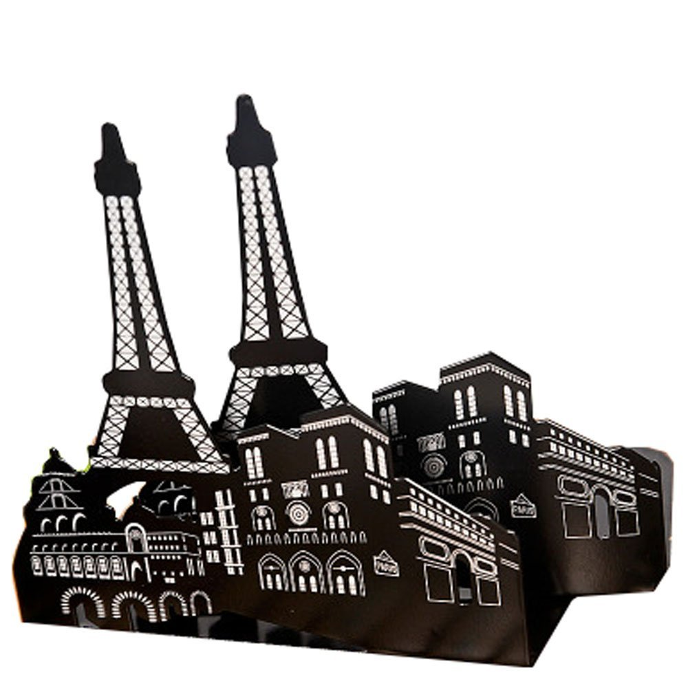 Winterworm One Pair Fashion Modern European American Architecture Landmark Theme Style Thickening Iron Library School Metal Bookends Book End Perfect Mother's Day Gift (New York Statue Of Liberty)