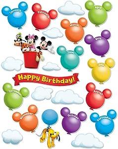 Eureka Disney Mickey Mouse Clubhouse Birthday Bulletin Board Set Classroom Decoration for Teachers, 24 pcs