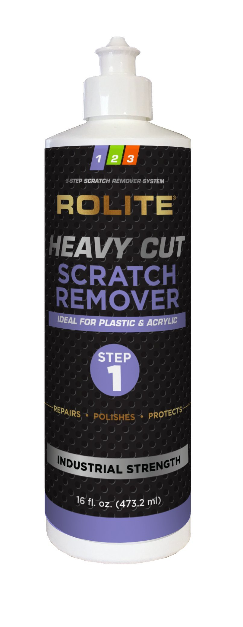Rolite Heavy Cut Scratch Remover (16 fl. oz.) for Plastic & Acrylic Surfaces Including Marine Strataglass & Eisenglass, Headlights, Aquariums