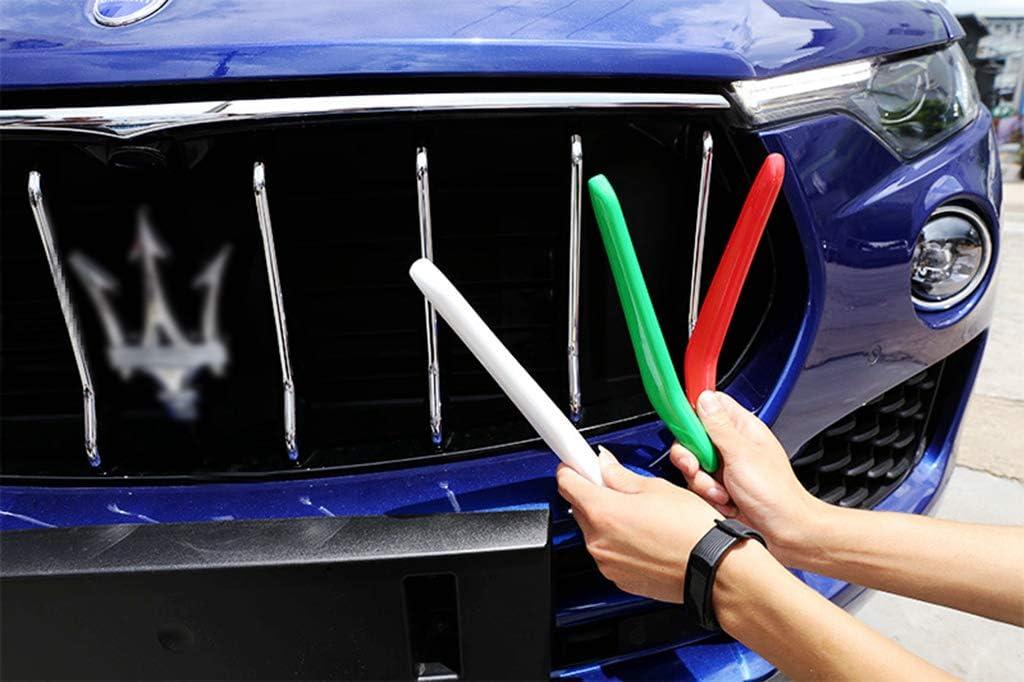 2016-2019 Grille Trim 3pcs Front Grille Decorative Garnish Trim for Maserati/_Levante/_Ghibli/_Quattroporte Colors of The Italian Flag Red, White, Green