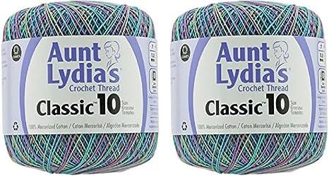 Aunt Lydia Cro Cottn Black Lydias Classic Crochet Thread Size 10