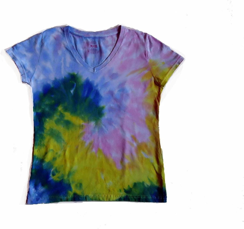 Pastel Rainbow Spiral - Tinte para Cuello en V para Mujer ...