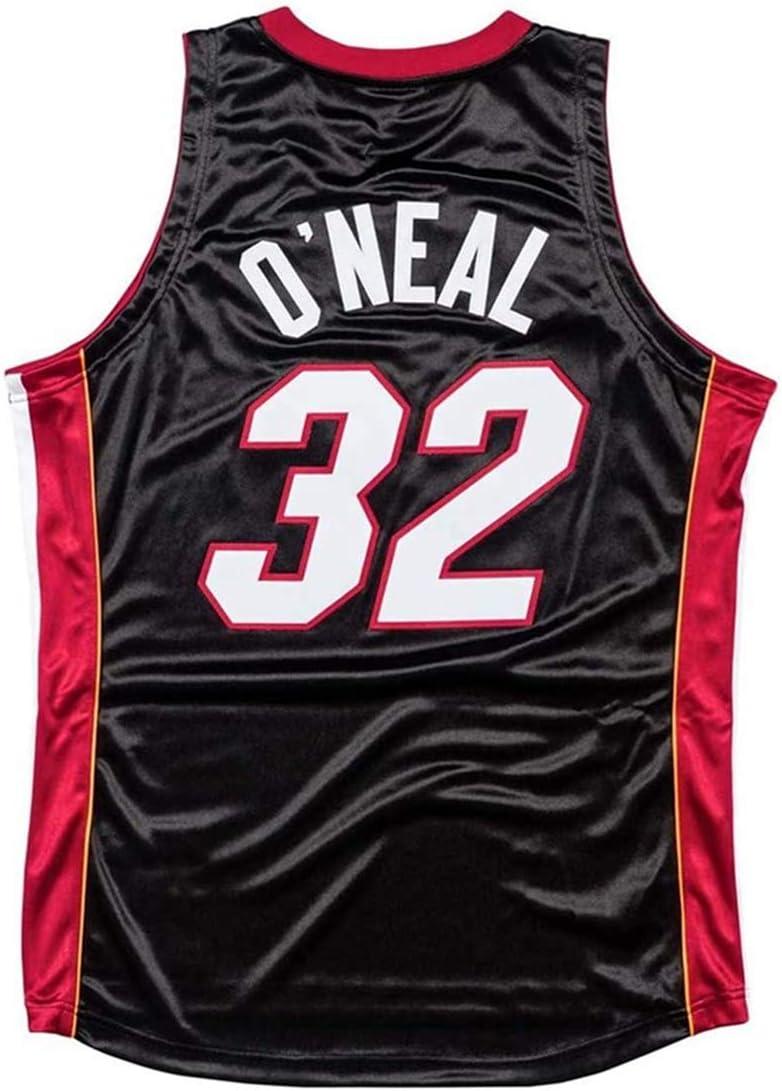 YUW El Calor Camisetas De La NBA Shaquille Oneal # 32 Jersey Ventilador Bordadas Retro Malla De Baloncesto Ropa De Entrenamiento Unisex Camiseta Sin Mangas