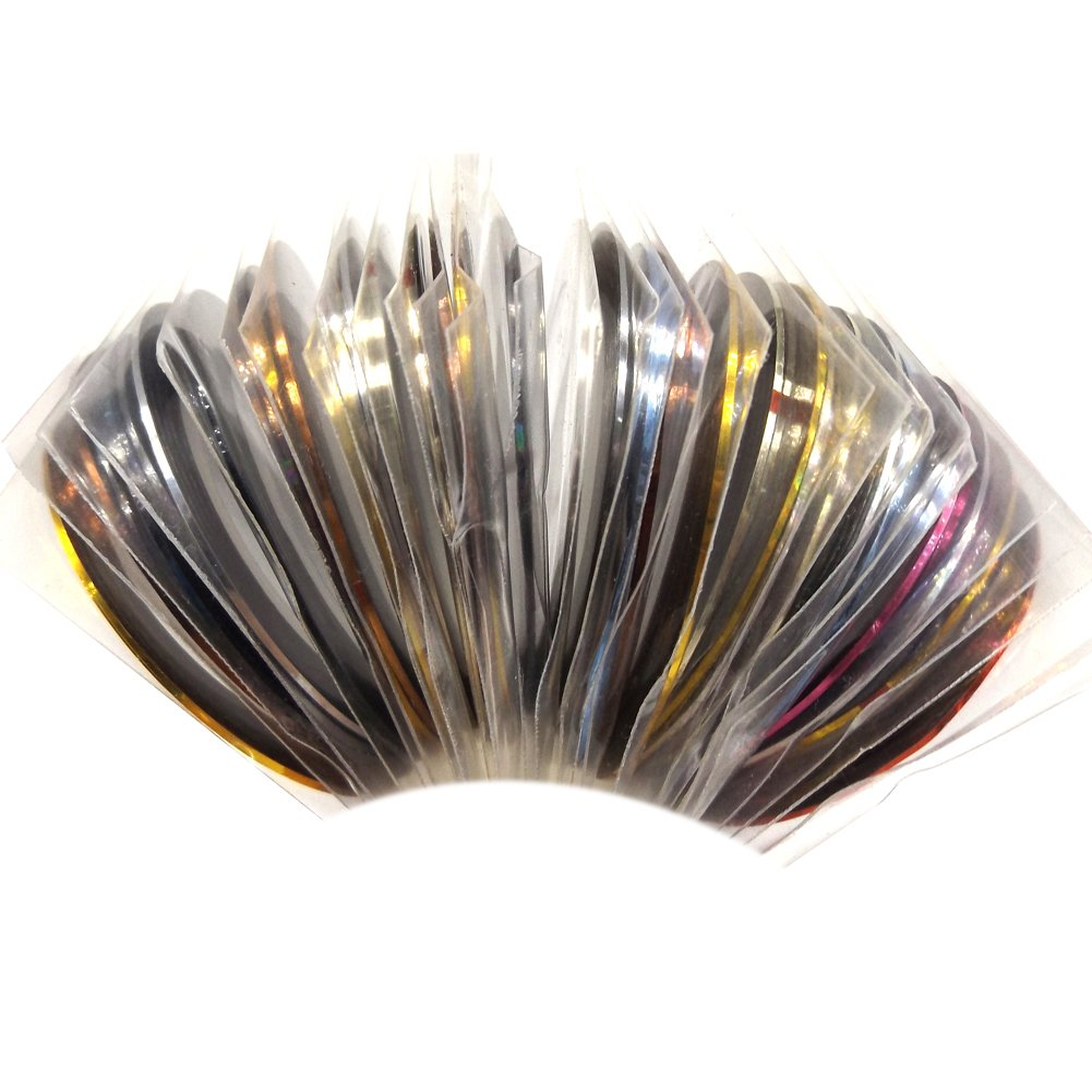 Warm Girl Mix Colors Rolls Metallic Striping Tape Line DIY Nail Art Tips Sticker Decoration Manicure Tools