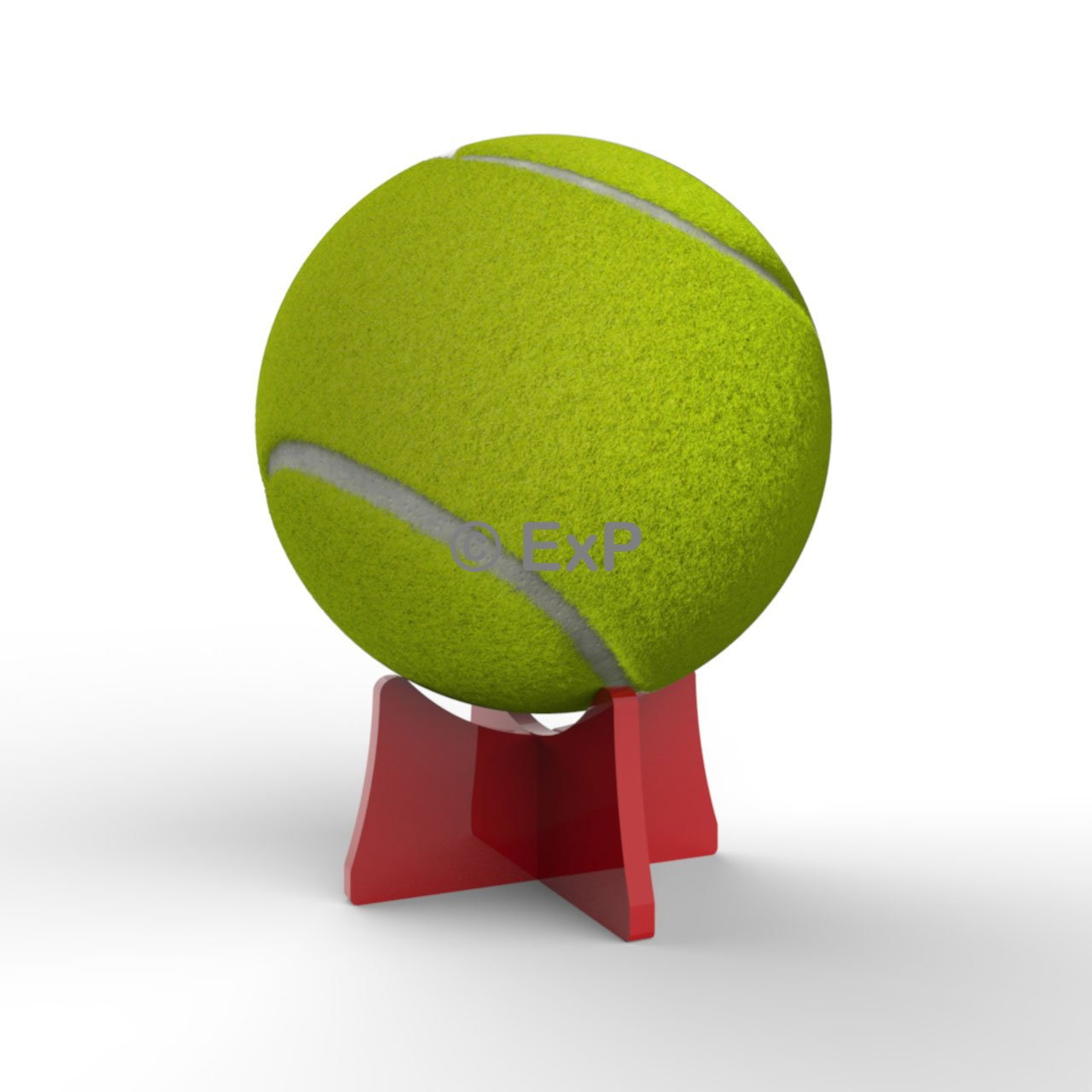 Acrylic Tennis Ball Display Stand Riser Plinth (Lime) 8 Colours Available Expression Products