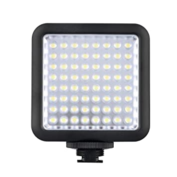 Godox LED 64 Continuous On Camera LED Panel lightPortable Dimmable Camera Camcorder Led Panel  sc 1 st  Amazon.com & Amazon.com : Godox LED 64 Continuous On Camera LED Panel light ... azcodes.com