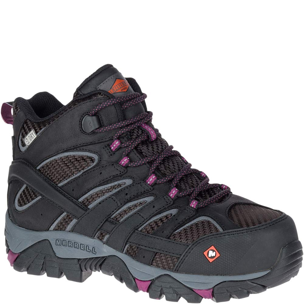 e52be8c9 Merrell Women'S Moab 2 Vent Mid Waterproof Composite-Toe Work Boot
