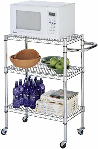 24″ Deep x 60″ Wide x 39″ High Chrome Kitchen Cart