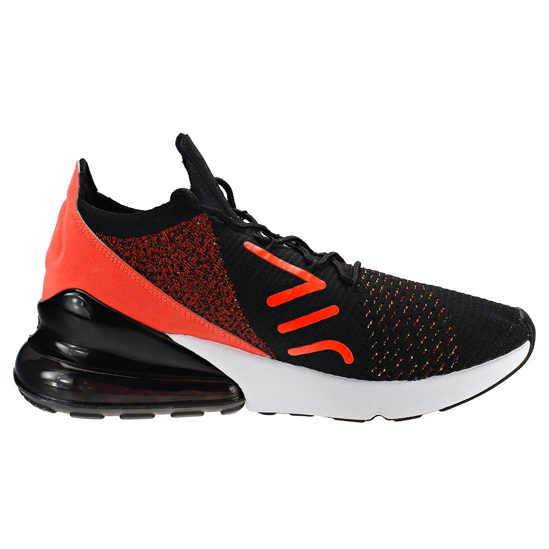 cd92d20934 Amazon.com | Nike Women's WMNS Air Max 270 Flyknit, Black/Yellow Strike |  Road Running