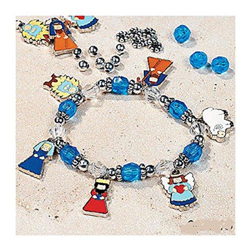 Metal Nativity Charm Bracelet Craft Kit - Makes 12