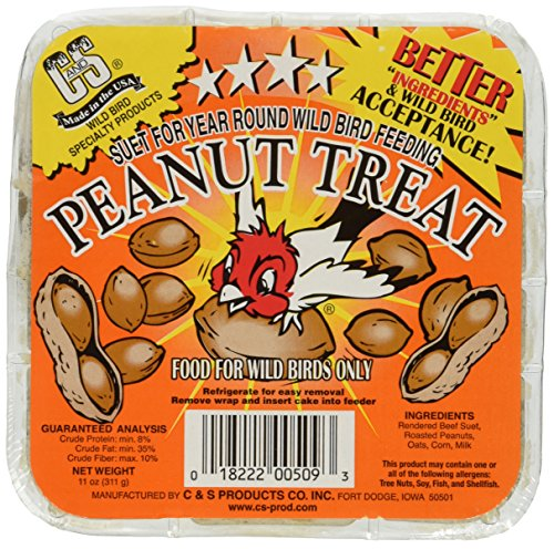 Suet Treat - C & S Products Peanut Treat, 12 pack