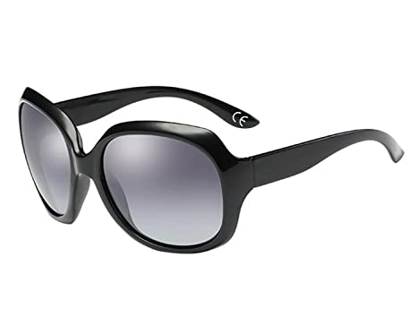 BVAGSS Lunettes De Soleil Mode Femme Tide Anti - UV Style Vintage(WS008) (Black Gray) AJq6b