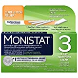Monistat 3-Day Vaginal Antifungal | Cure & Itch Relief Combination Pack | 3 Pre-filled applicators and Itch Relief Cream