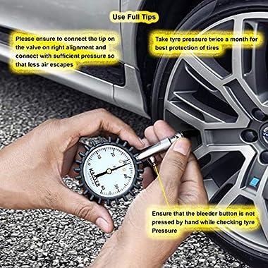 Karter™ KTR-001 Heavy Duty Premium Tyre Pressure Gauge 13
