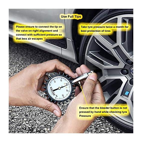 Karter™ KTR-001 Heavy Duty Premium Tyre Pressure Gauge 6