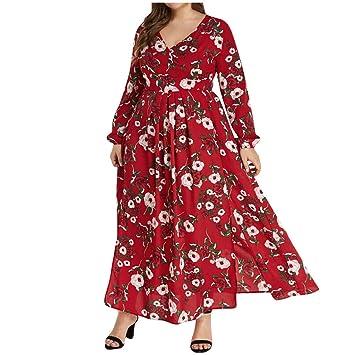 Amazon.com: SADUORHAPPY Fashion Women Split O-Neck Dress ...