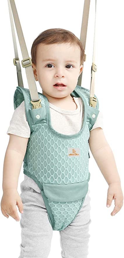 Handheld Standing Up and Walking Learning Helper Baby Walking Harness Breathable Baby Walking Support for 6-27 Months Baby Infant Child Toddler Kids Adjustable Toddler Walking Assistant Harness