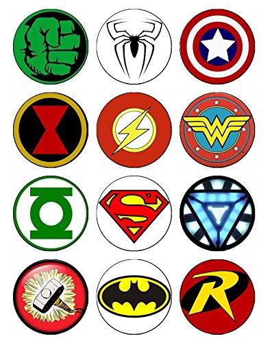 12 EDIBLE Superhero Cu...