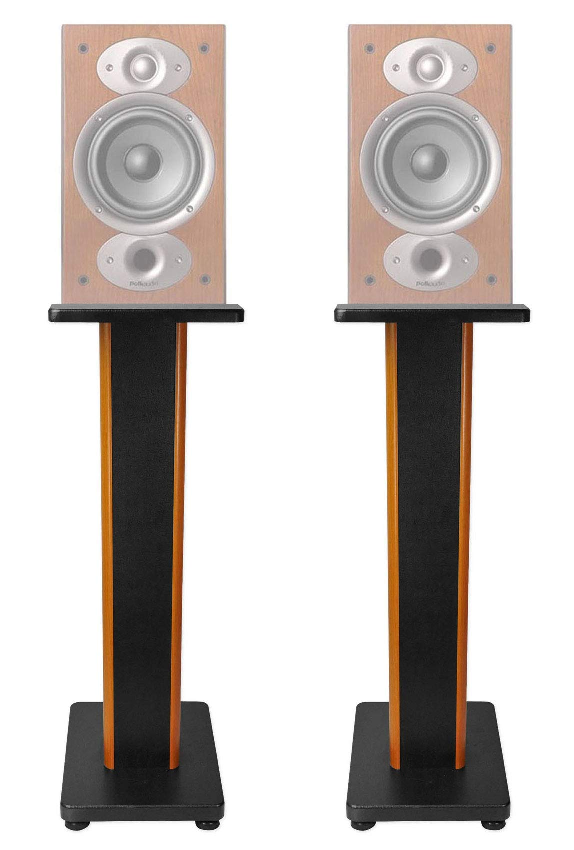 ROCKVILLE Pair 28'' 2-Tone Speaker Stands for Polk Audio RTI A1 Bookshelf Speakers by ROCKVILLE