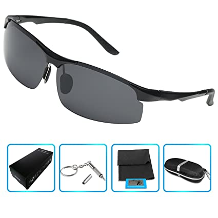 2c1dc1ff5e Men s women Polarized Sunglasses for Driving Fishing Golf Climbing (black