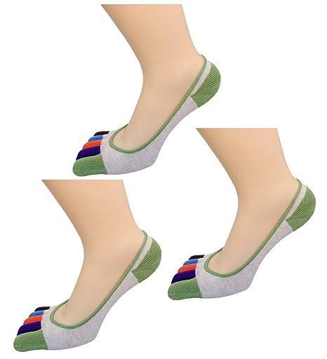 Fascigirl 3 Pares No Mostrar los Pies Calcetines Algodón Corte Bajo Calcetines Mocasines Deportivos para Mujeres