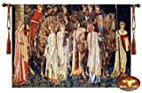 Holy Grail Medieval Jacquard Woven Wall Hanging Tapestry + tassels