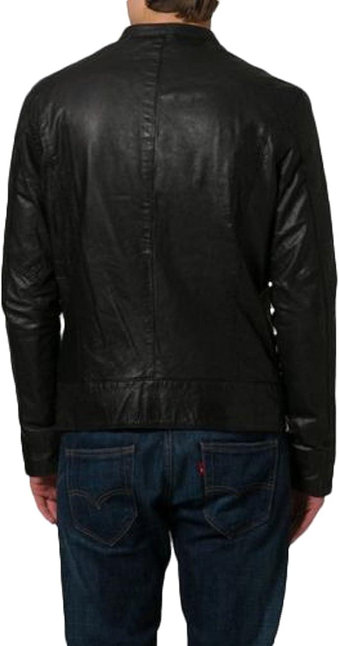 Mens Leather Jacket Slim Fit Biker Motorcycle Genuine Lambskin Jacket Coat LTN1381