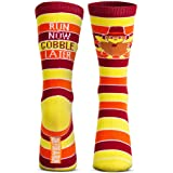 Run Now Gobble Later | Running Woven Mid Calf Socks by Gone For a Run | Thanksgiving Socks | Large
