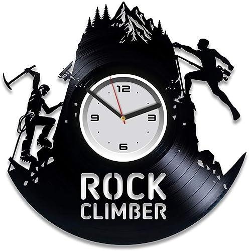 Kovides Climbing Vinyl Wall Clock Mountain Clock Climbing Gift