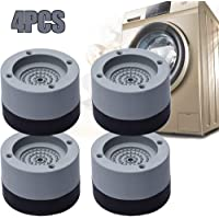 4 Piezas Almohadillas para pies de lavadora, Amortiguador de Vibraciones para Lavadoras, Almohadillas de Goma…