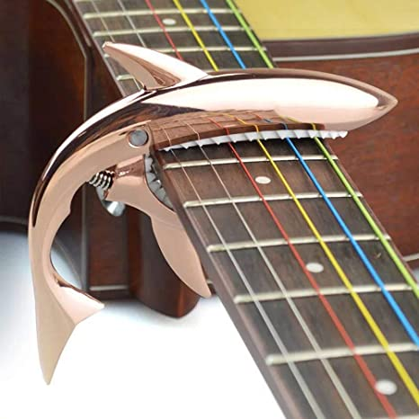 irugh Metal variación de Metal Madera Guitarra Shark Clip de variación variación de aleación de Zinc