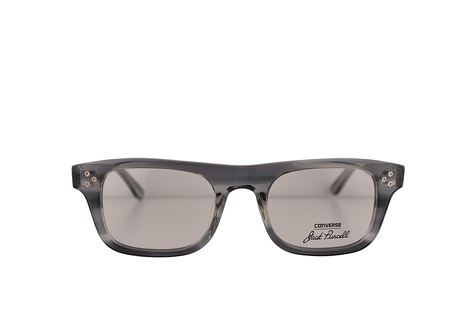 Converse All Star P004 UF Jack Purcell Eyeglasses 50-21-145 Smoke w//Demo Clear Lens P004UF