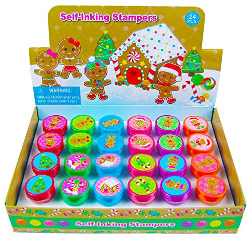 TINYMILLS 24 Pcs Gingerbread Christmas Stampers for - For Gingerbread Kids Crafts