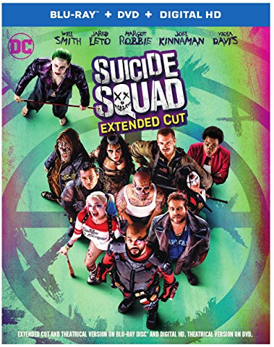 Blu-ray : Suicide Squad (Extended Cut) (With DVD, Extended Edition, Ultraviolet Digital Copy, AC-3, Digitally Mastered in HD)