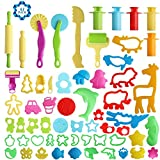 SOTOGO 61 Pieces Clay Dough Tools Kit with Molds and Extruder Tools