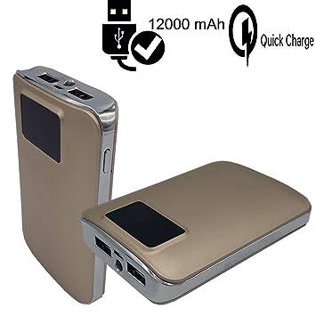 CEKA TECH® Cargador portátil 12000mAh, batería Externa 2 ...