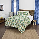 Rizzy Home Maddux Place Franky Geometric 2 Piece Quilt Set, Twin X-Large, Green
